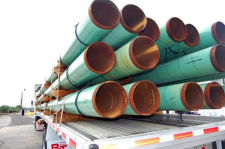 Shipping Coated Pipe